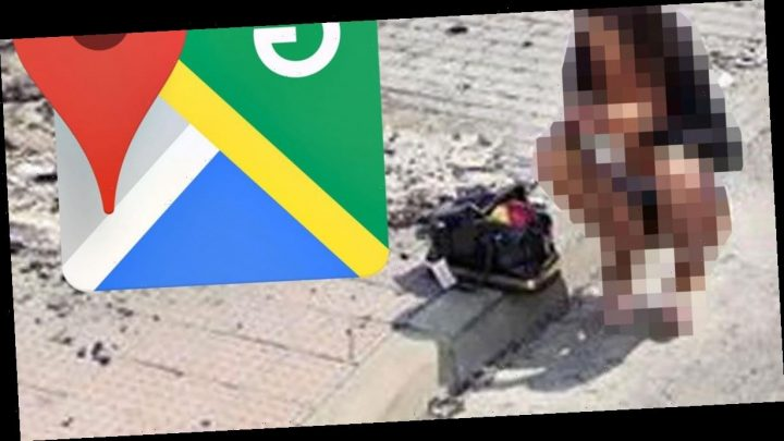 Google Maps users spot mysterious woman in racy outfit in middle of the street