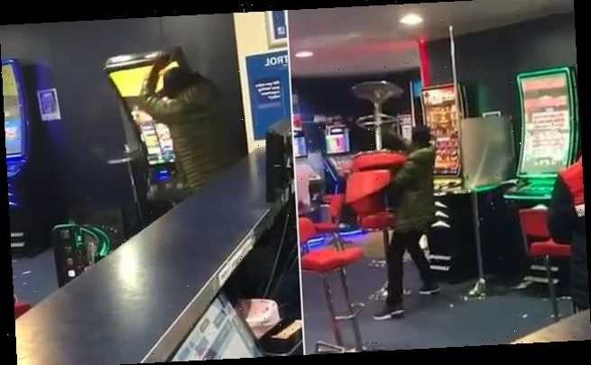 Man smashes up three fruit machines at Betfred