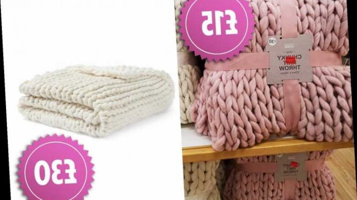 Primark has slashed prices of its chunky knit throws to £15 and shoppers are desperate to grab one