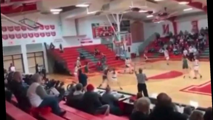 Shocking moment girl's basketball player rips opponent down by the ponytail during high school game – The Sun