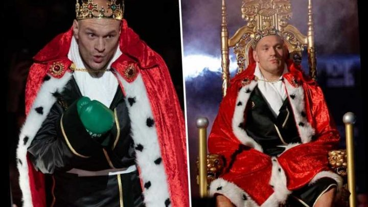 Tyson Fury's incredible ring walk as Brit comes out on throne dressed as king for Wilder rematch and fans LOVE it – The Sun