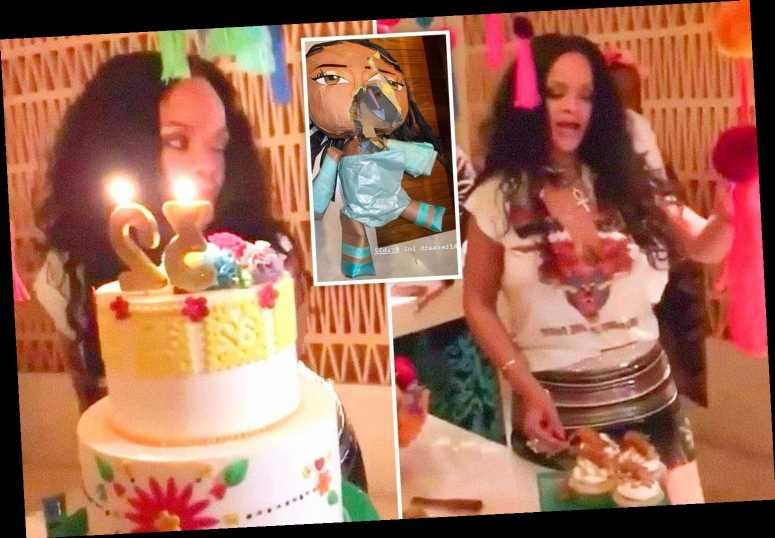 Incredible Inside Rihannas 32Nd Birthday Party In Mexico Filled With Tequila Funny Birthday Cards Online Fluifree Goldxyz