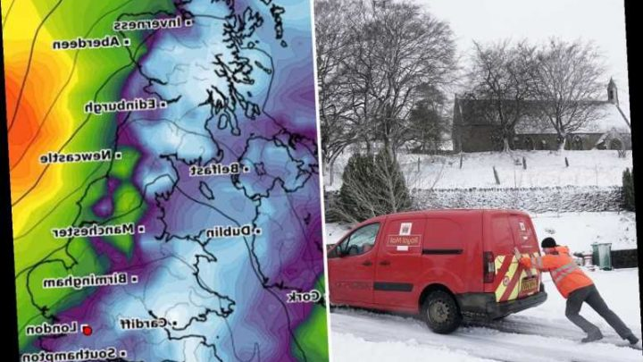 UK weather forecast – Met Office issues SNOW warning as up to 4ins and 75mph gales to spark blizzards tomorrow – The Sun