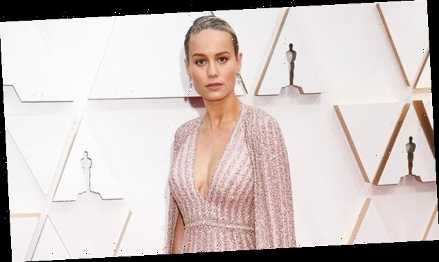 Brie Larson Is A Vision In A Sparkling Caped Gown At The 2020 Oscars