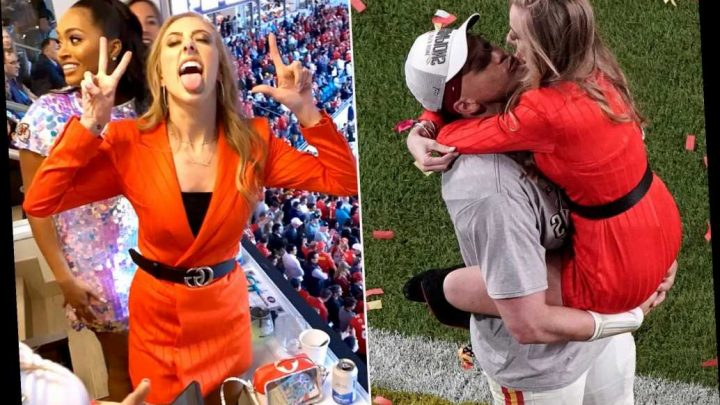 Patrick Mahomes' girlfriend Brittany Matthews goes nuts after Super Bowl win
