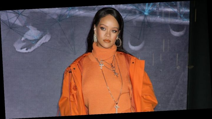 It's Hard to Miss Rihanna When She's Wearing This Bright Orange Fenty Outfit