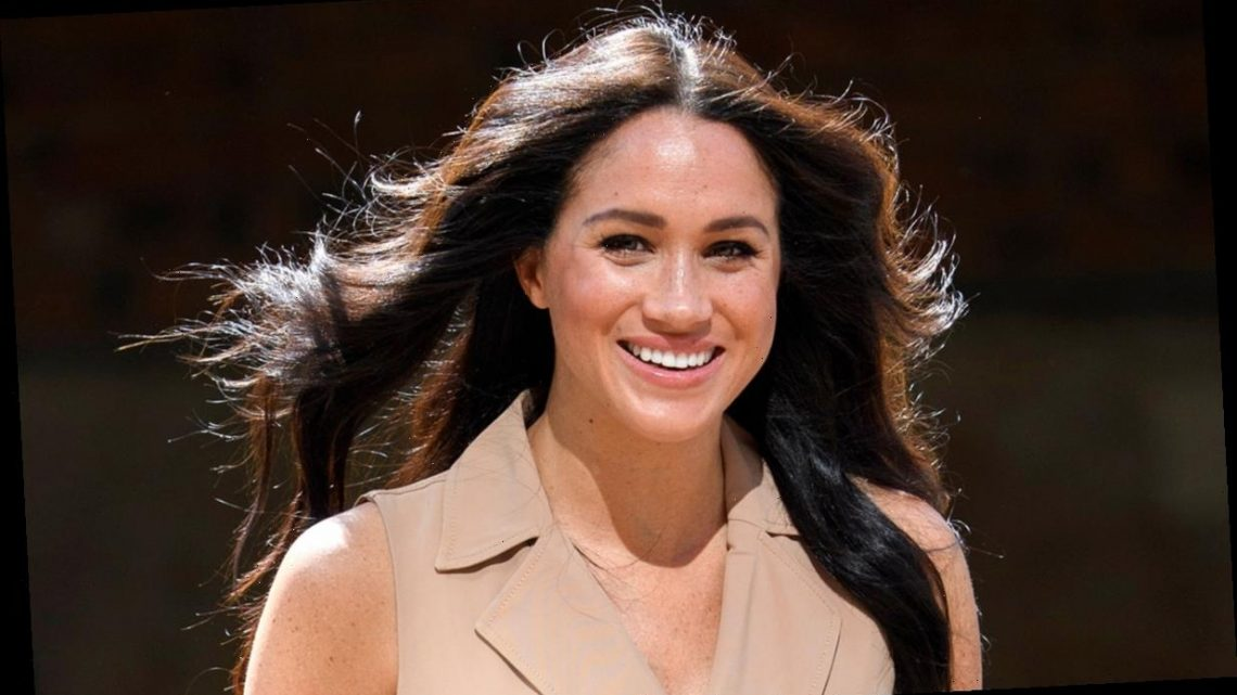 Meghan Markle and Edward Enninful giggle as they discuss the Duchess' guest-edited edition of Vogue in Instagram video