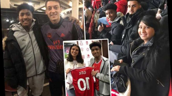 Classy Ozil meets fan, 17, who was left needing chemotherapy after brain tumour and lets him watch Arsenal from VIP box – The Sun