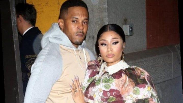 Nicki Minaj Pregnant? Husband Calls Himself a 'Dad' While Rubbing Her Stomach