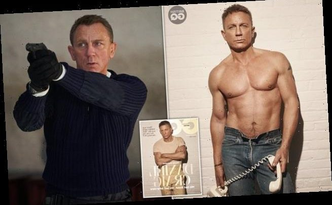 Daniel Craig poses shirtless as he gives LAST Bond interview for GQ