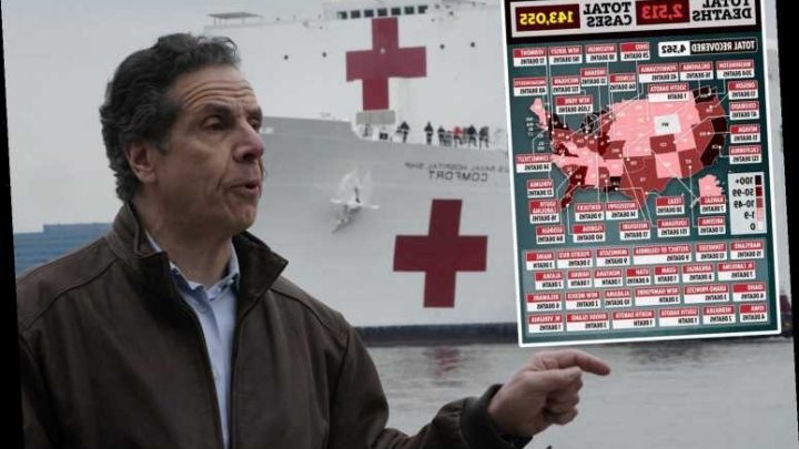 New York Gov. Cuomo said he's 'seeing people die all around me' and warns the storm is near as hospital ship arrives – The Sun