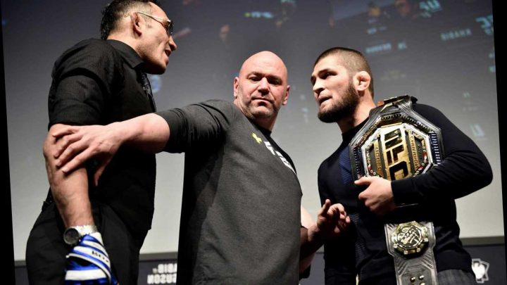 Khabib v Ferguson will go ahead with '10 people in room' as Dana White blasts 'wimpiest' media over calls to axe UFC 249 – The Sun