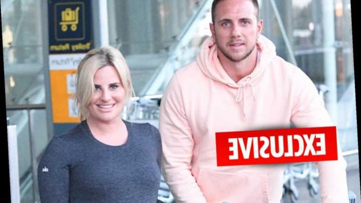Pregnant Danielle Armstrong shows off her engagement ring as she arrives back from Dubai with her new fiance – The Sun