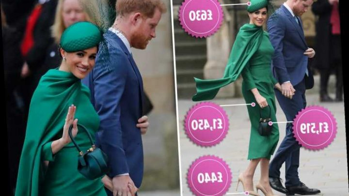 Meghan Markle wears £11,000 designer outfit for her final outing as a royal