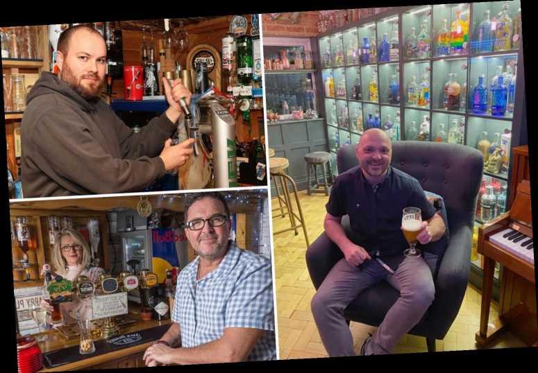 Booze-loving Brits beat coronavirus lockdown bar ban by hunkering down in DIY pubs – The Sun