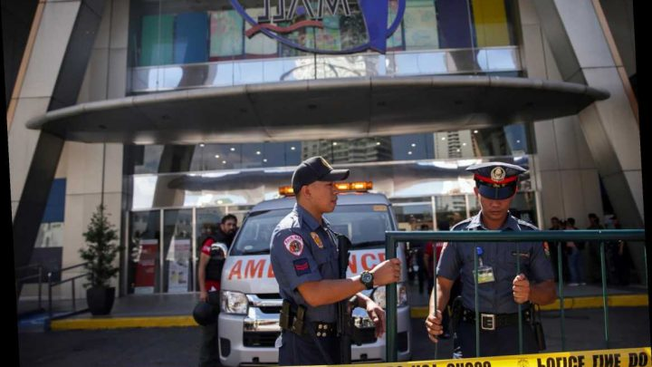 Manila shooting – one wounded after gunman 'with grenade' takes 30 hostages at Philippines shopping mall – The Sun