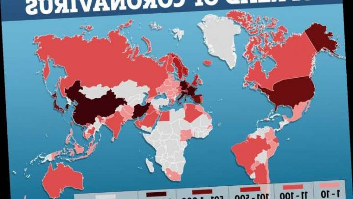Coronavirus map: How many deaths have there been from Covid-19 so far? – The Sun