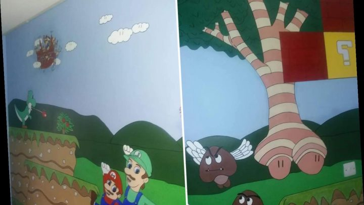 Mum shows off hand painted Mario Kart mural – but people think it looks like something MUCH ruder