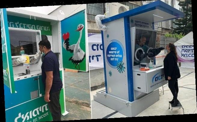 Israel launches new 'contactless' roadside covid-19 testing booths