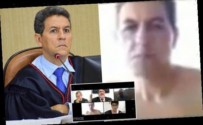 Brazilian judge appears in a Zoom court hearing shirtless