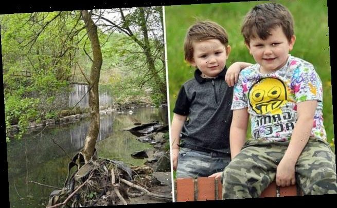 Boy, seven, jumps into river to save his toddler brother who fell in