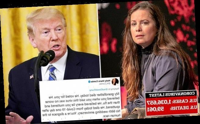 Holly Marie Combs blames Trump for grandfather's death from COVID-19
