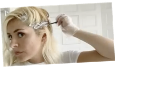 """Holly Willoughby reveals how she dyes her hair in step-by-step seven-minute tutorial: """"I colour it all the time"""""""