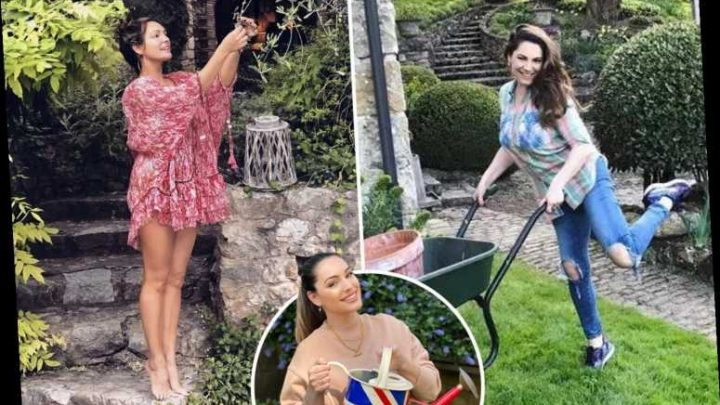 How Kelly Brook made gardening sexy again as she shows off her stunning pile and reveals she prunes in the nude