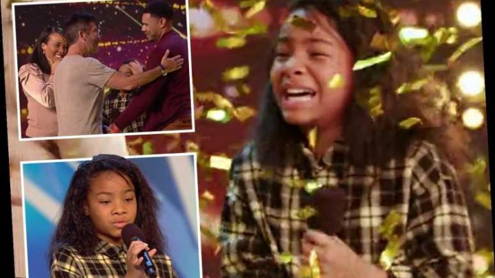 Britain's Got Talent's viewers rejoice as Simon Cowell hits his golden buzzer for 12-year-old singer Fayth Ifel