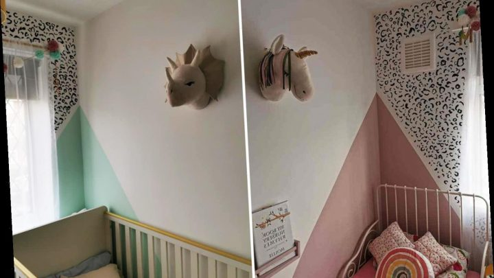 Thrifty mum completely transforms her kids' room using celery and paint tester pots from Wilko – and it only cost £34