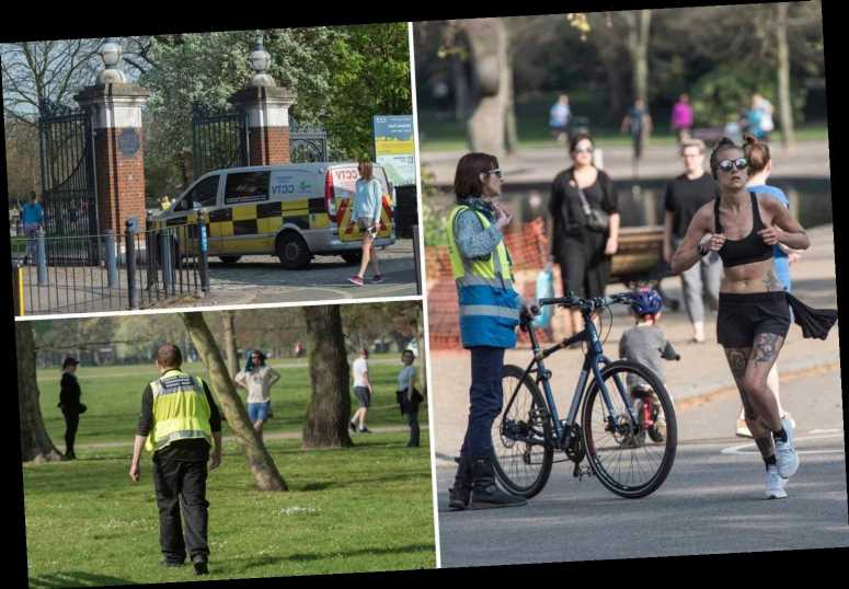Brits hit the park as temperatures soar to 26C and police patrol to catch sunbathers during coronavirus lockdown – The Sun
