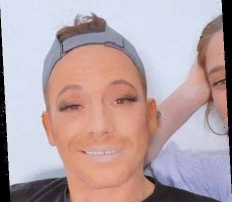 Bored Stacey Solomon gives Joe Swash a VERY orange makeover including fake eyelashes and lip liner