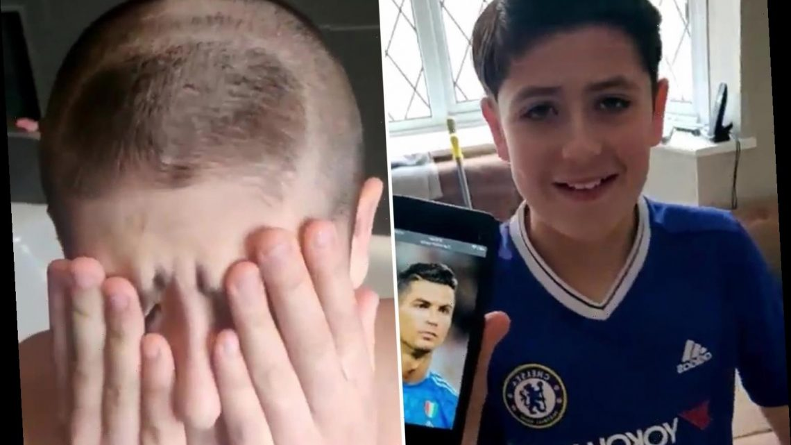 TikTok prankster leaves son distraught by giving him wrong Ronaldo haircut after he asks for Cristiano's locks – The Sun