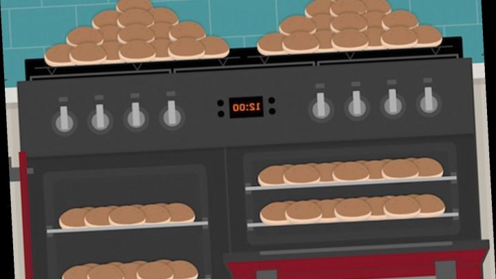 There are five hot cross buns hidden in this oven – so can you spot them all?
