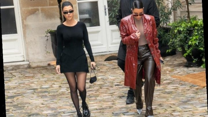 Kim and Kourtney Kardashian's 'Cute' Instagram Captions Couldn't Distract Fans From Their Questionable Outfits