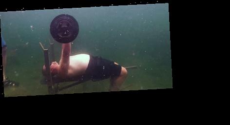 Watch This Guy Break a World Bench Press Record… Underwater