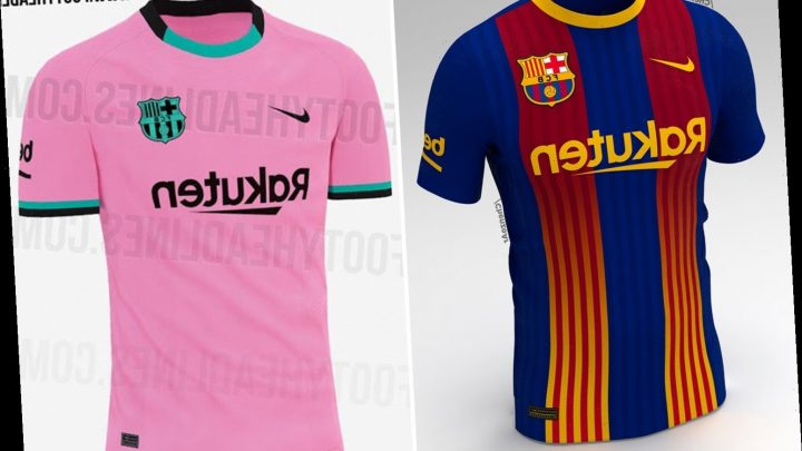 Barcelona 2020-21 kits 'leaked' with Catalan colours merging with club's famous blue and red for special fourth strip – The Sun