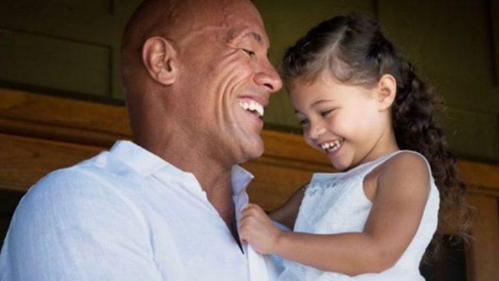 Actor Dwayne Johnson shares video of him singing daughter to sleep