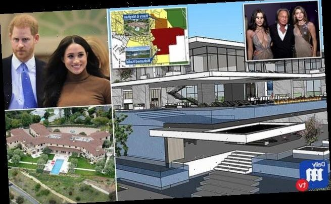 Mohammed Hadid is building mansion next to Meghan and Harry's hideout