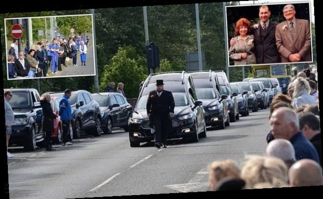 NHS staff line streets at funeral for nurse, 54, his mother and father