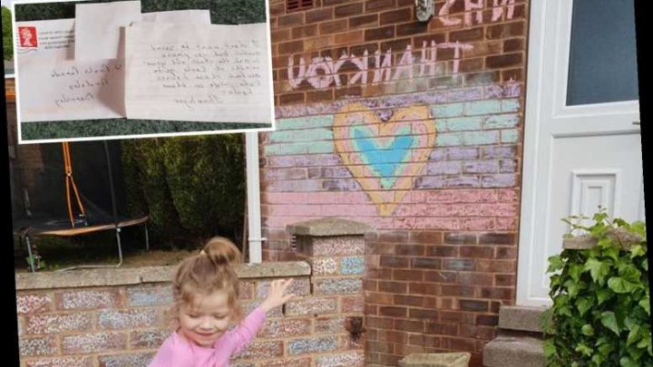 Dad's fury after snob neighbour asks him to remove five-year-old daughter's 'awful' NHS mural – The Sun