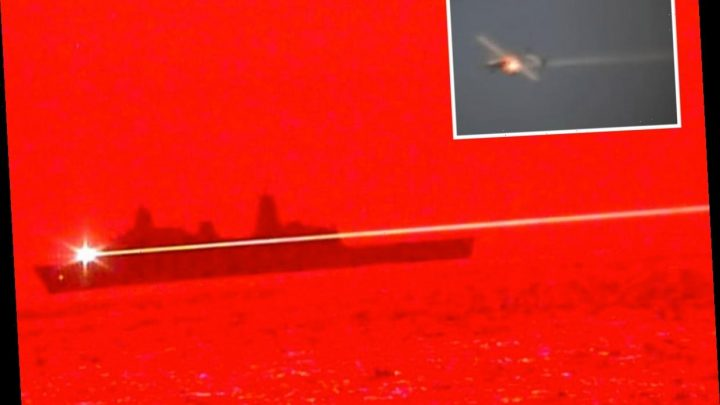 Stunning moment US Navy showcases high-energy laser to shoot down drone for first time – The Sun