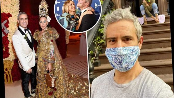 Andy Cohen visits past Met Gala date Sarah Jessica Parker in a tee-shirt and jokes 'we're ready' after event canceled – The Sun