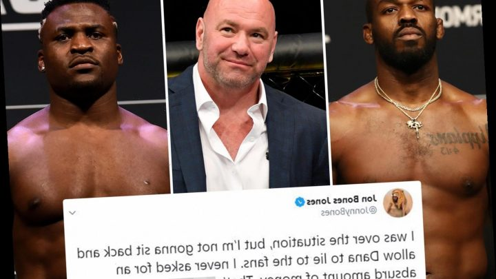 UFC champ Jon Jones blasts boss Dana White for lying to fans over demands for 'absurd' amount of money to face Ngannou – The Sun