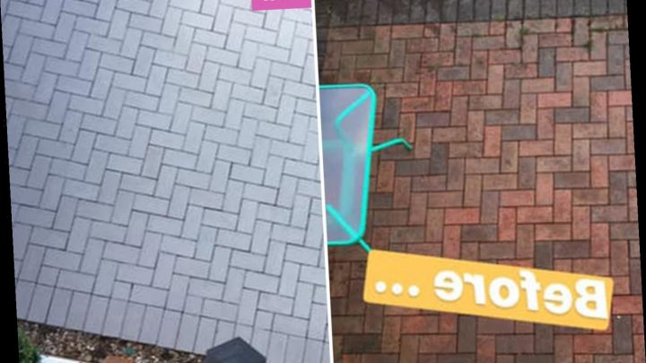 Woman completely revamps her drab patio using £20 B&Q paint and people can't believe it's the same space