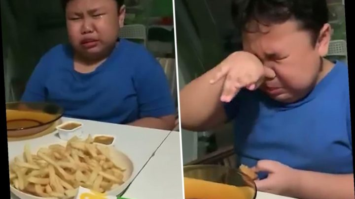 Boy, 9, weeps with joy at first McDonald's meal after months of lockdown – The Sun