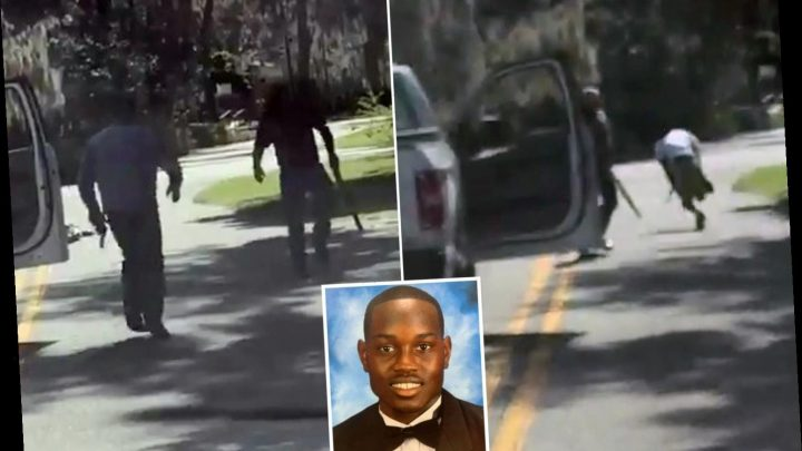 Horrifying moment two white gunmen 'shoot black jogger dead' in broad daylight 'as they hunted burglar' – The Sun