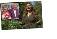 Kelly Brook travels to 'Great Dixter' for This Morning segment leaving Eamonn Holmes blushing over 'innuendo' – The Sun