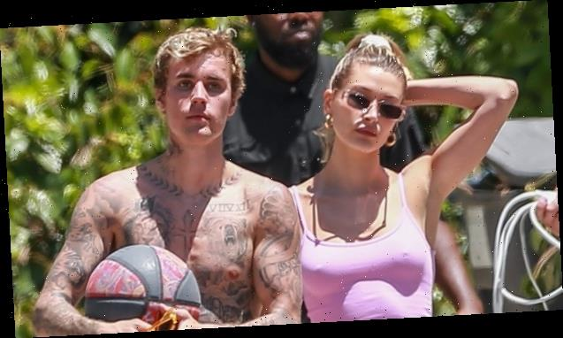 Justin Bieber Shows Off His Glistening Muscles While Stepping Out With Hailey Baldwin — Pics