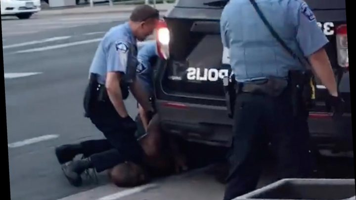 Video shows Minneapolis cop with knee on neck of black man who later died